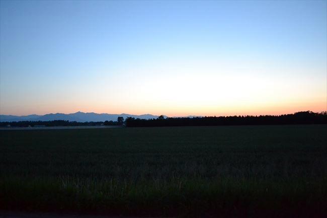 夕方の十勝平野