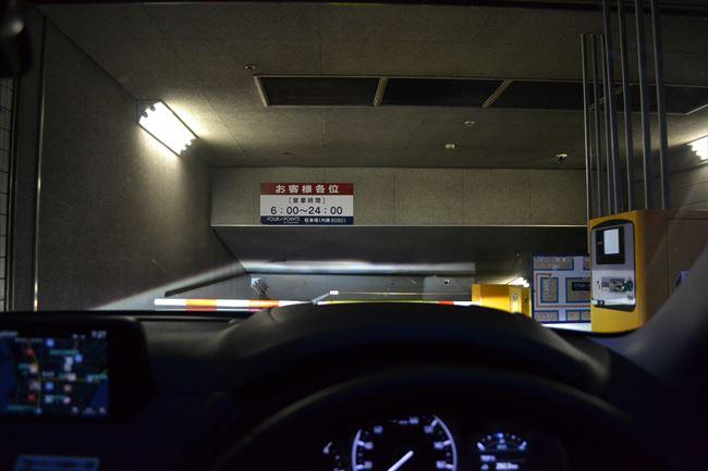 CX-5で駐車場に入庫