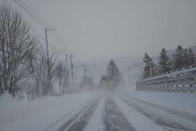北海道での追い越し